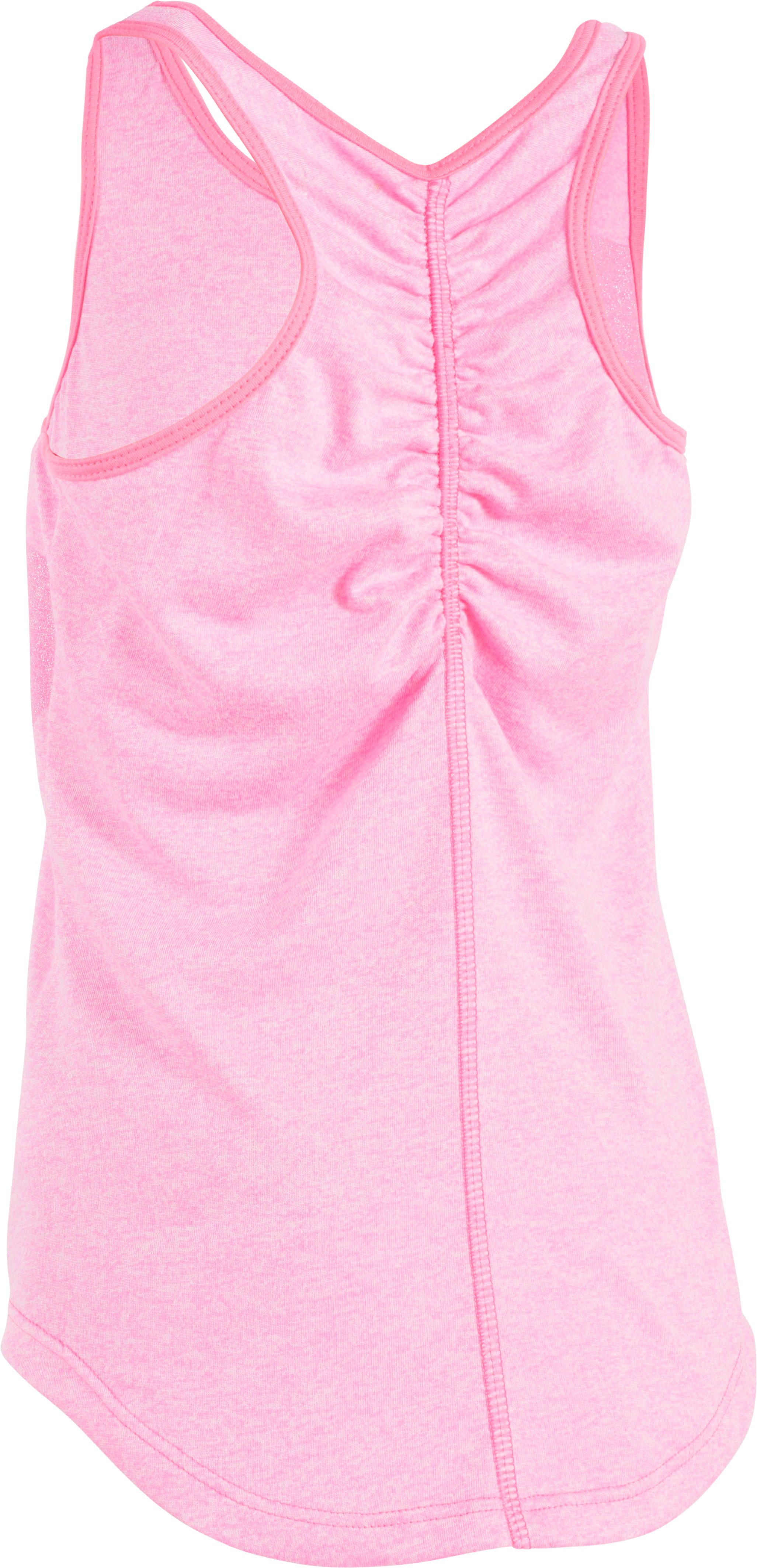 Girls' Pre-School UA Big Logo Tank, PINK PUNK