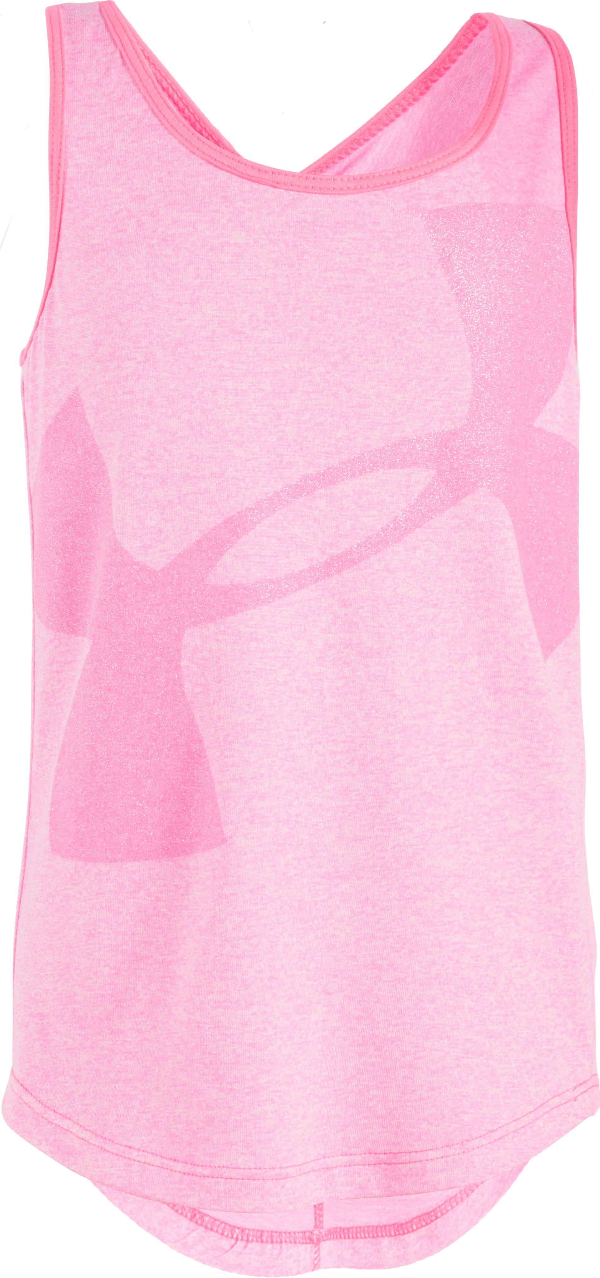 Girls' Pre-School UA Big Logo Tank, PINK PUNK, zoomed image