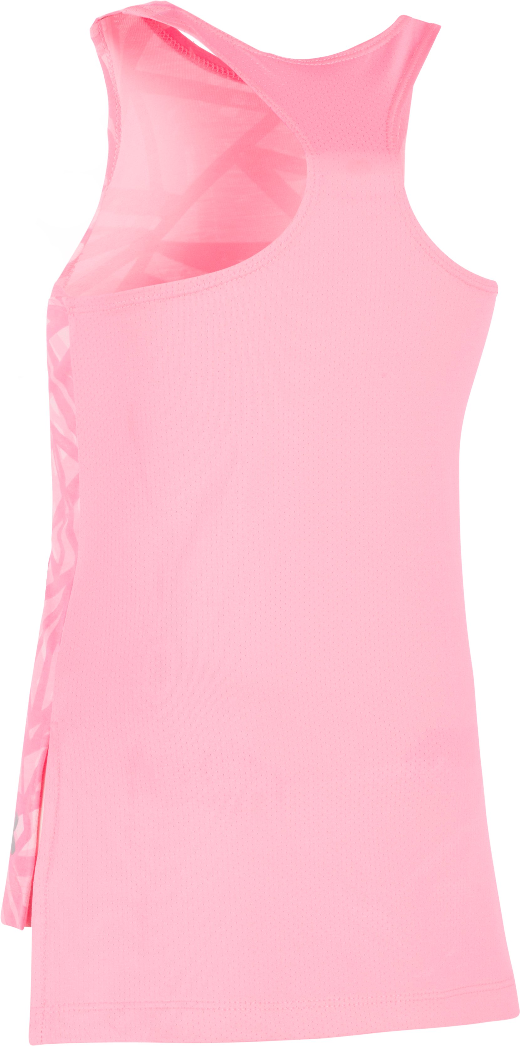Girls' Pre-School UA Divergent Tank, PINK CRAZE,
