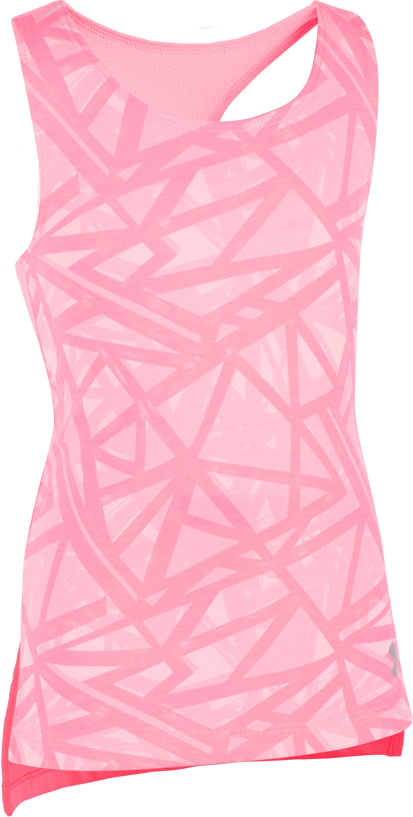 Girls' Pre-School UA Divergent Tank, PINK CRAZE, Laydown