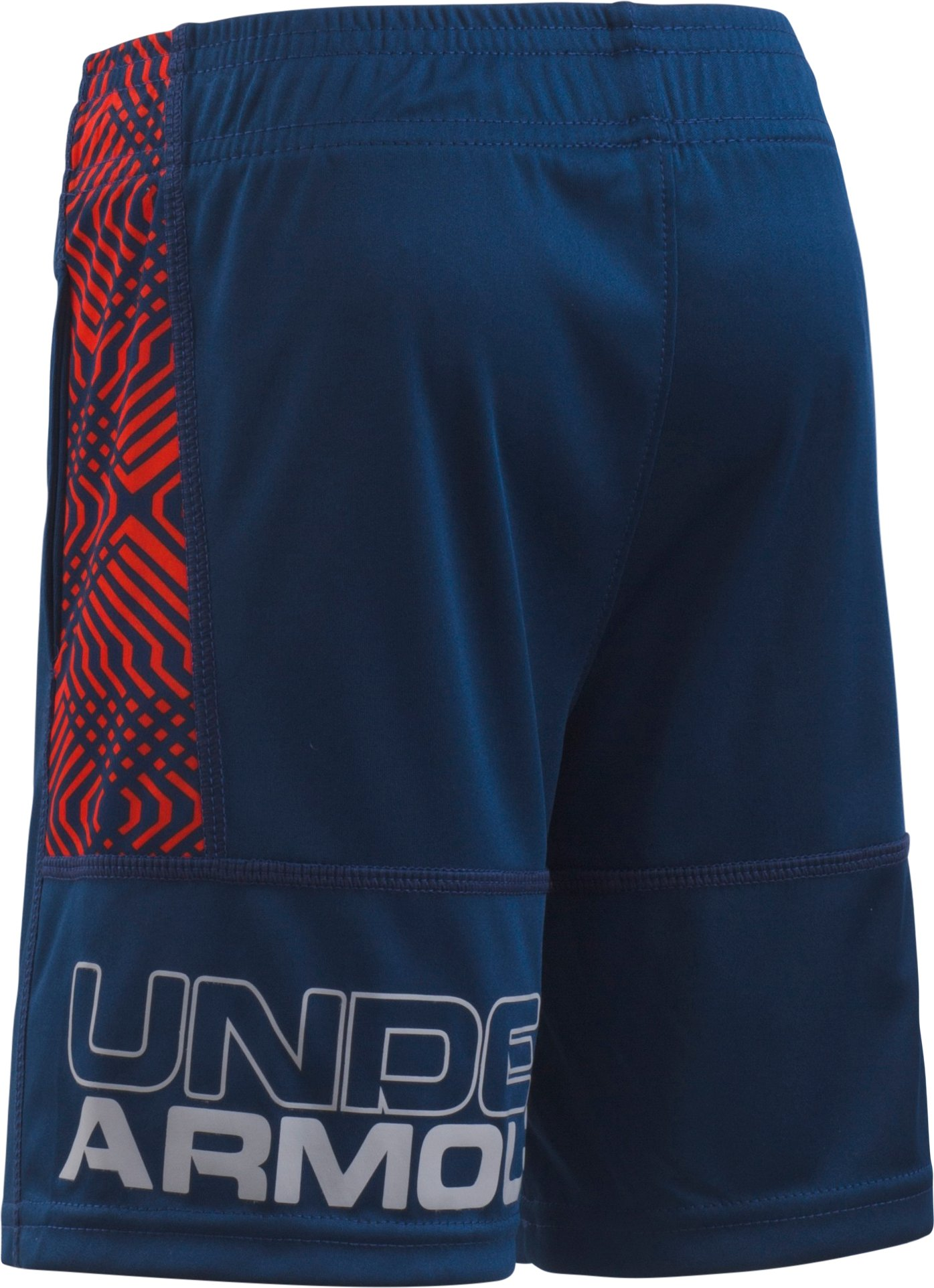 Boys' Toddler UA Midtown Grid Eliminator Shorts, BLACKOUT NAVY,
