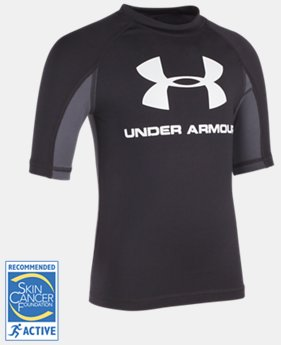 Boys' Pre-School UA Compression Rashguard Short Sleeve Shirt  3 Colors $16.99