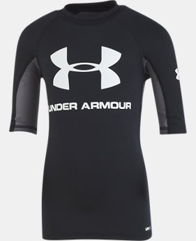 Boys' Pre-School UA Compression Rashguard Short Sleeve Shirt  1  Color Available $30
