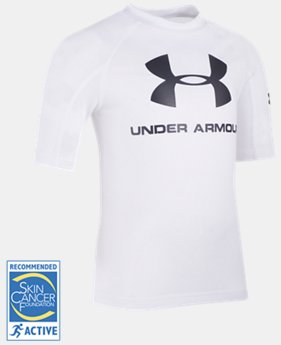Boys' Pre-School UA Compression Rashguard Short Sleeve Shirt  1  Color Available $19.99