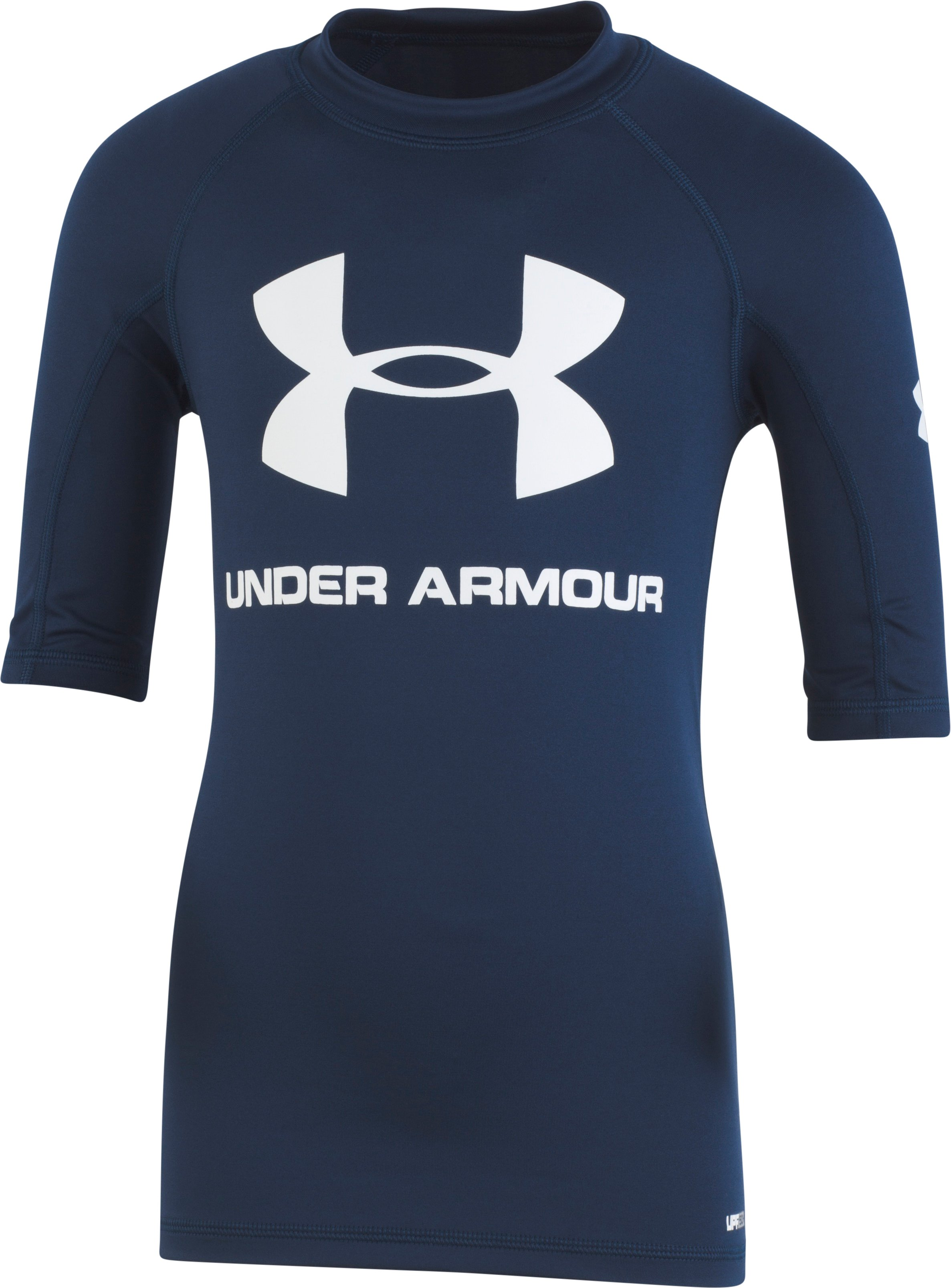 Boys' Pre-School UA Compression Rashguard Short Sleeve Shirt 2 Colors $26.99