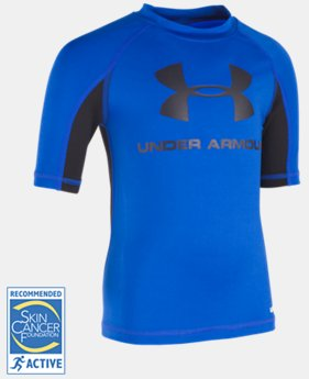 Boys' Pre-School UA Compression Rashguard Short Sleeve Shirt  1 Color $16.99