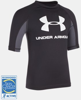 Boys' Pre-School UA Compression Rashguard Short Sleeve Shirt  1 Color $23.99