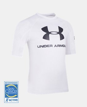 Boys' Pre-School UA Compression Rashguard Short Sleeve Shirt   $23.99