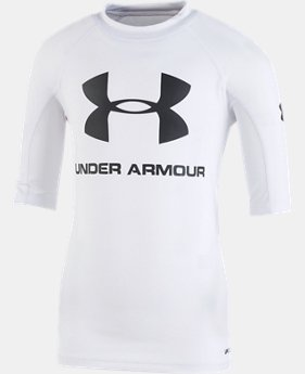 Boys' Pre-School UA Rashguard Short Sleeve Shirt  1  Color Available $16.99