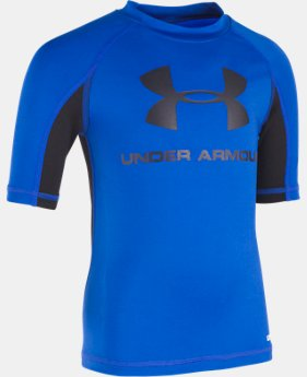 Boys' Pre-School UA Rashguard Short Sleeve Shirt  1  Color Available $16.99 to $20.99