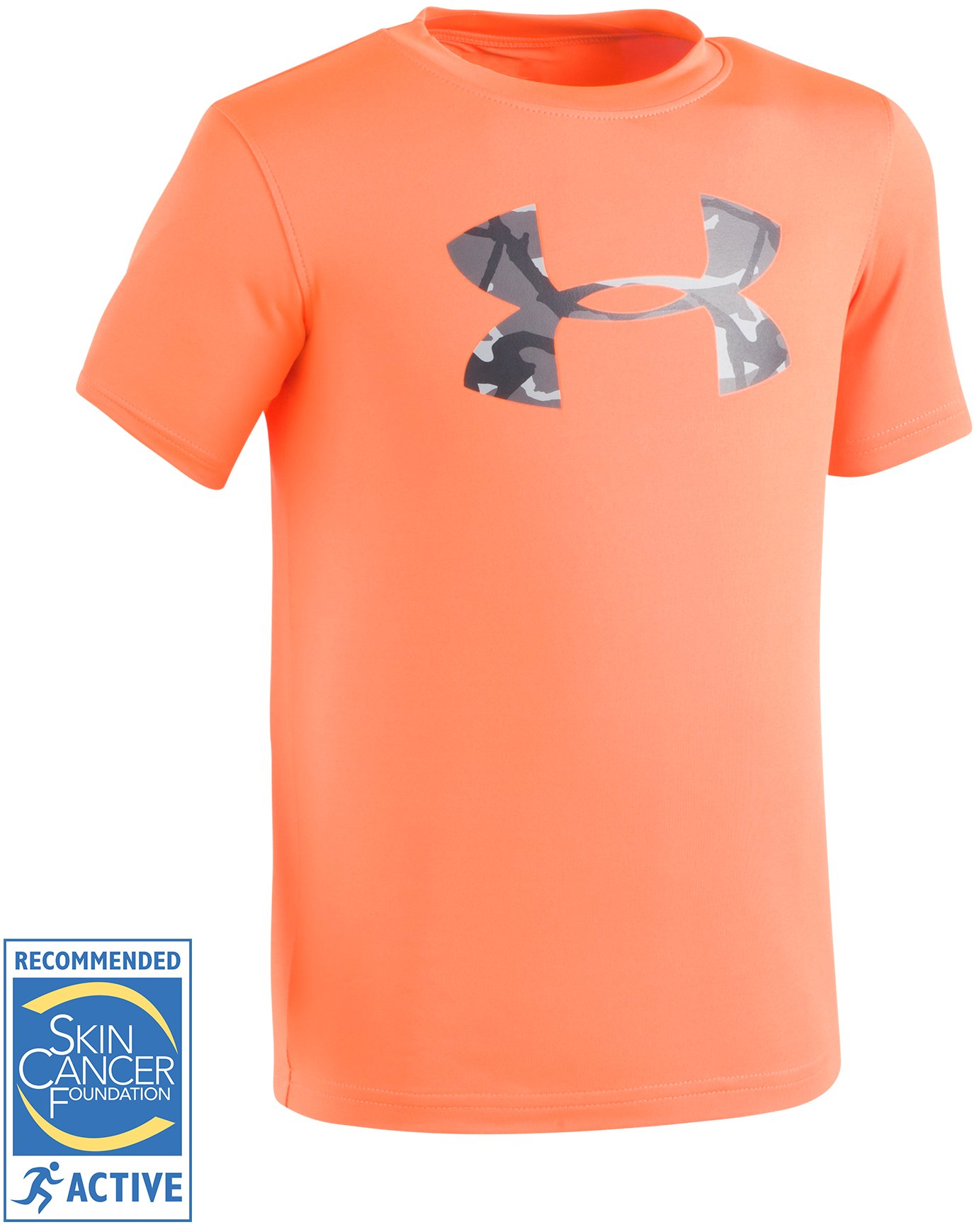 Boys' Toddler UA Anatomic Surf Short Sleeve Shirt, Blaze Orange,