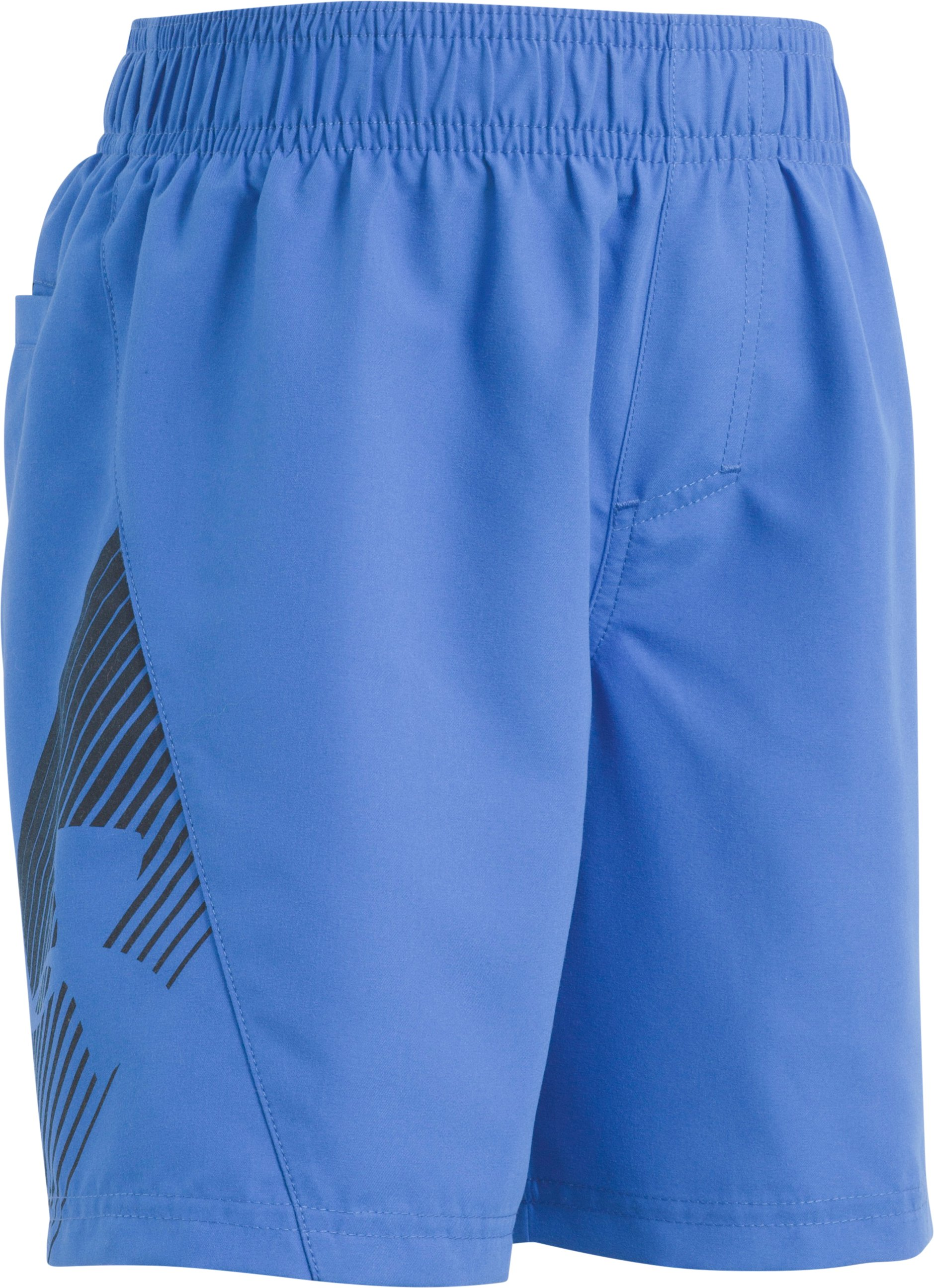 Boys' Pre-School UA Entry Solid Boardshorts, ULTRA BLUE, Laydown