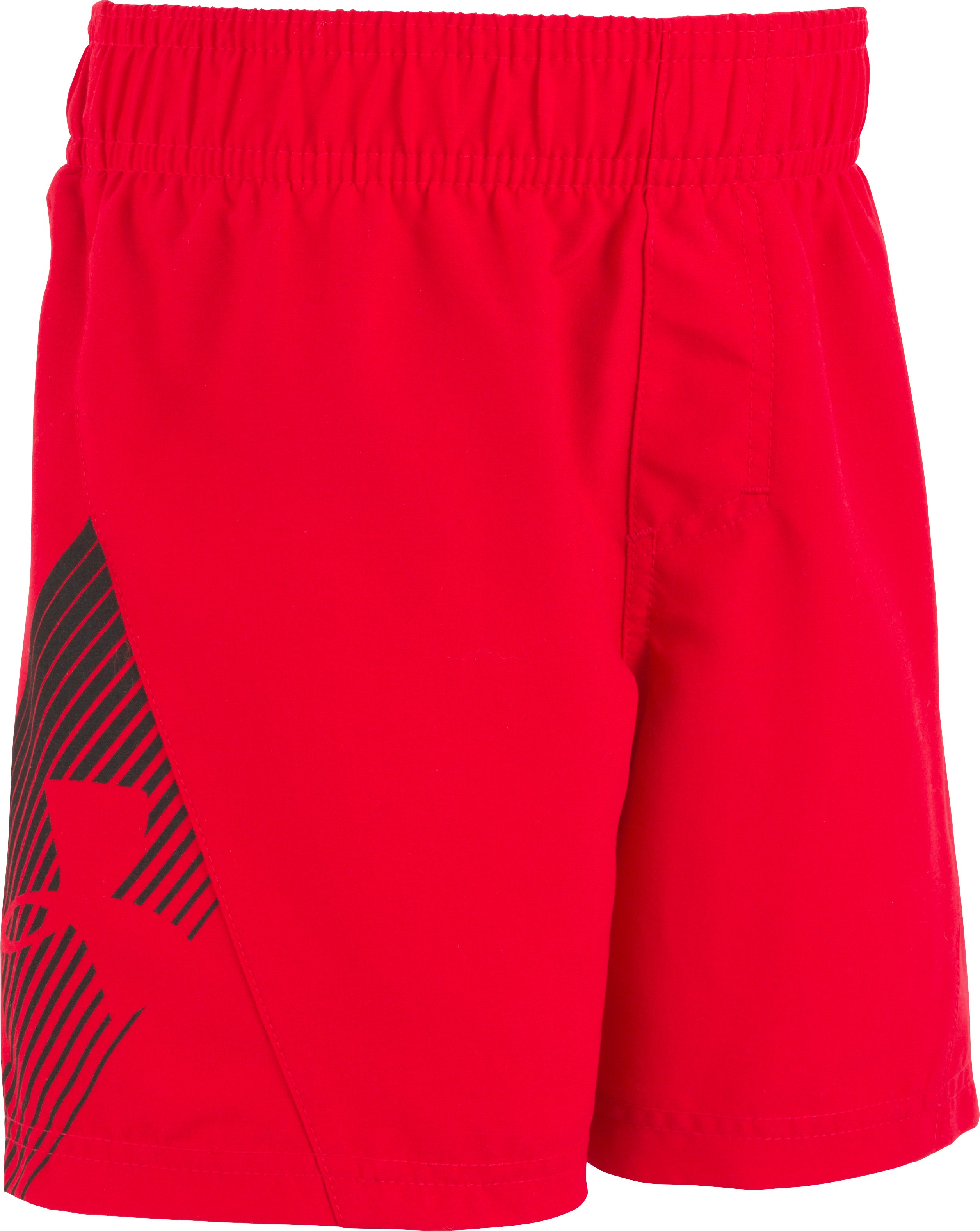 Boys' Infant UA Entry Solid Boardshorts, Red, zoomed image