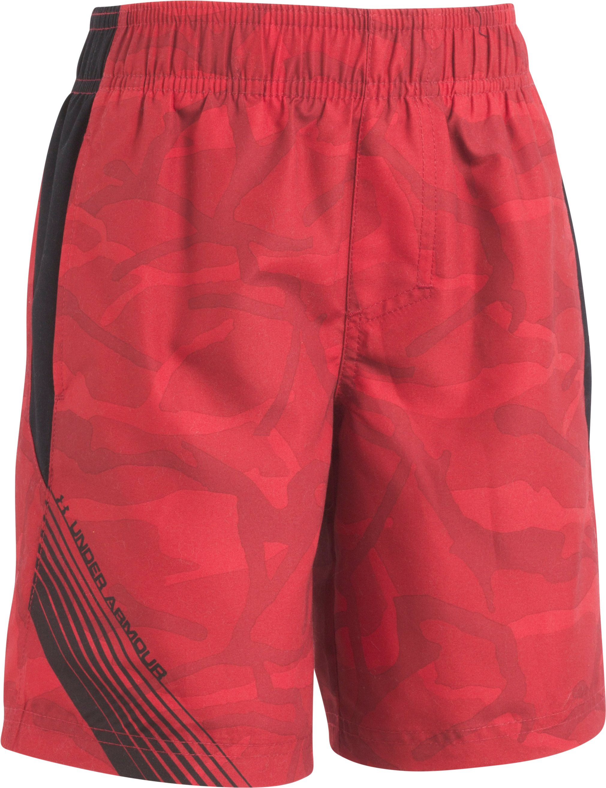 Boys' Pre-School UA Volley Shorts, Red, Laydown