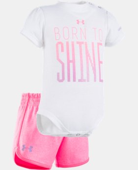 Girls' Newborn UA Born To Shine Short Set  1 Color $32.99