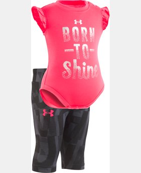 Girls' Newborn UA Born To Shine Short Set  1  Color Available $35
