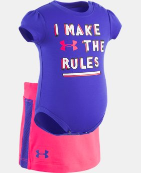 New to Outlet Girls' Newborn UA I Make The Rules Short Set  1  Color Available $24.74