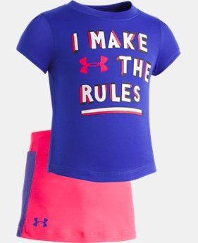 Girls' Infant UA I Make The Rules Short Set FREE U.S. SHIPPING 1  Color Available $33