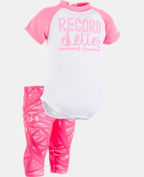 Girls' Newborn UA Record Setter Capris Set  1 Color $20.24