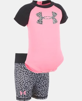 Girls' Newborn UA Glazed Dot Big Logo Set  1 Color $32.99