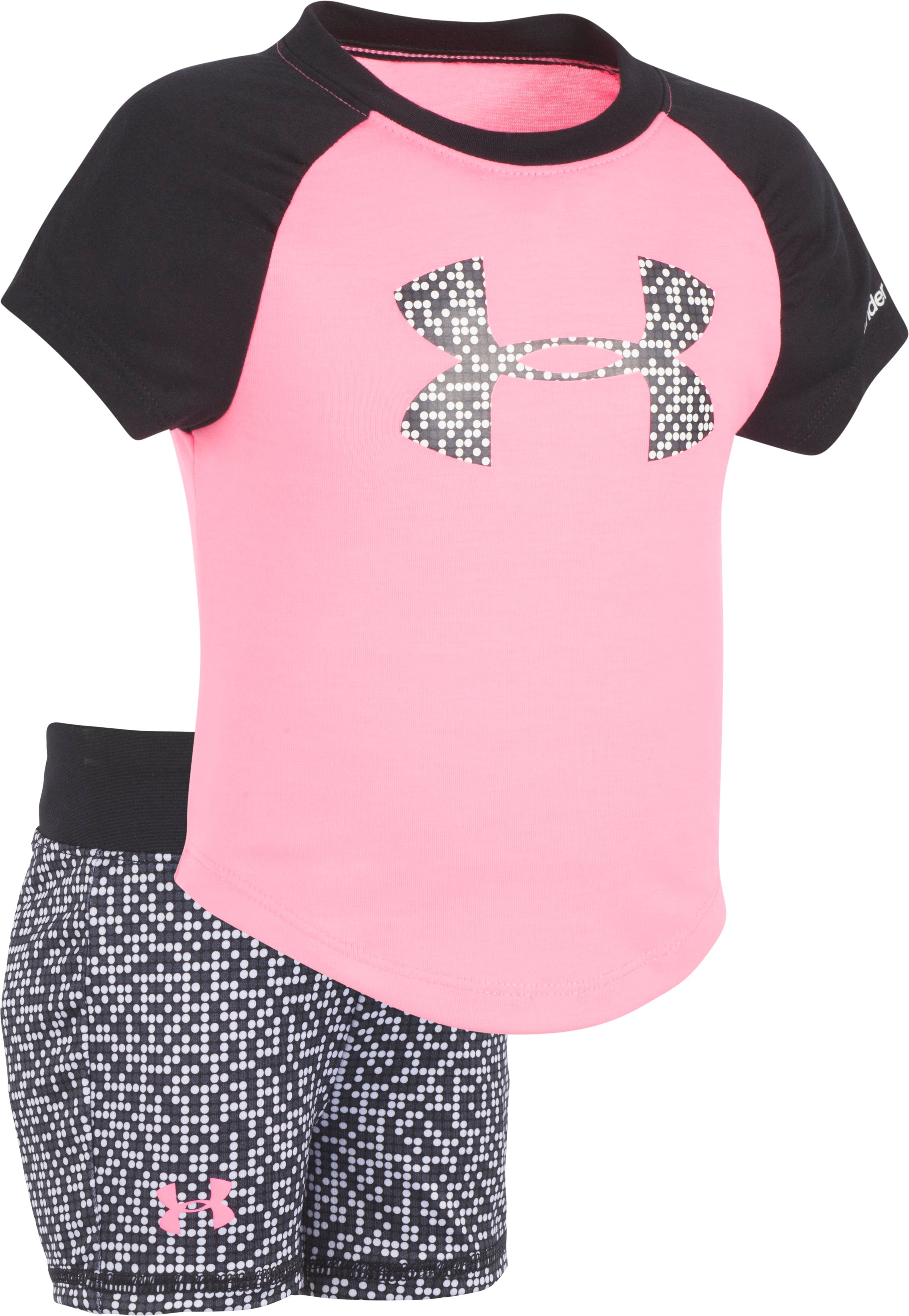 Girls' Infant UA Glazed Dot Big Logo Set, PINK PUNK