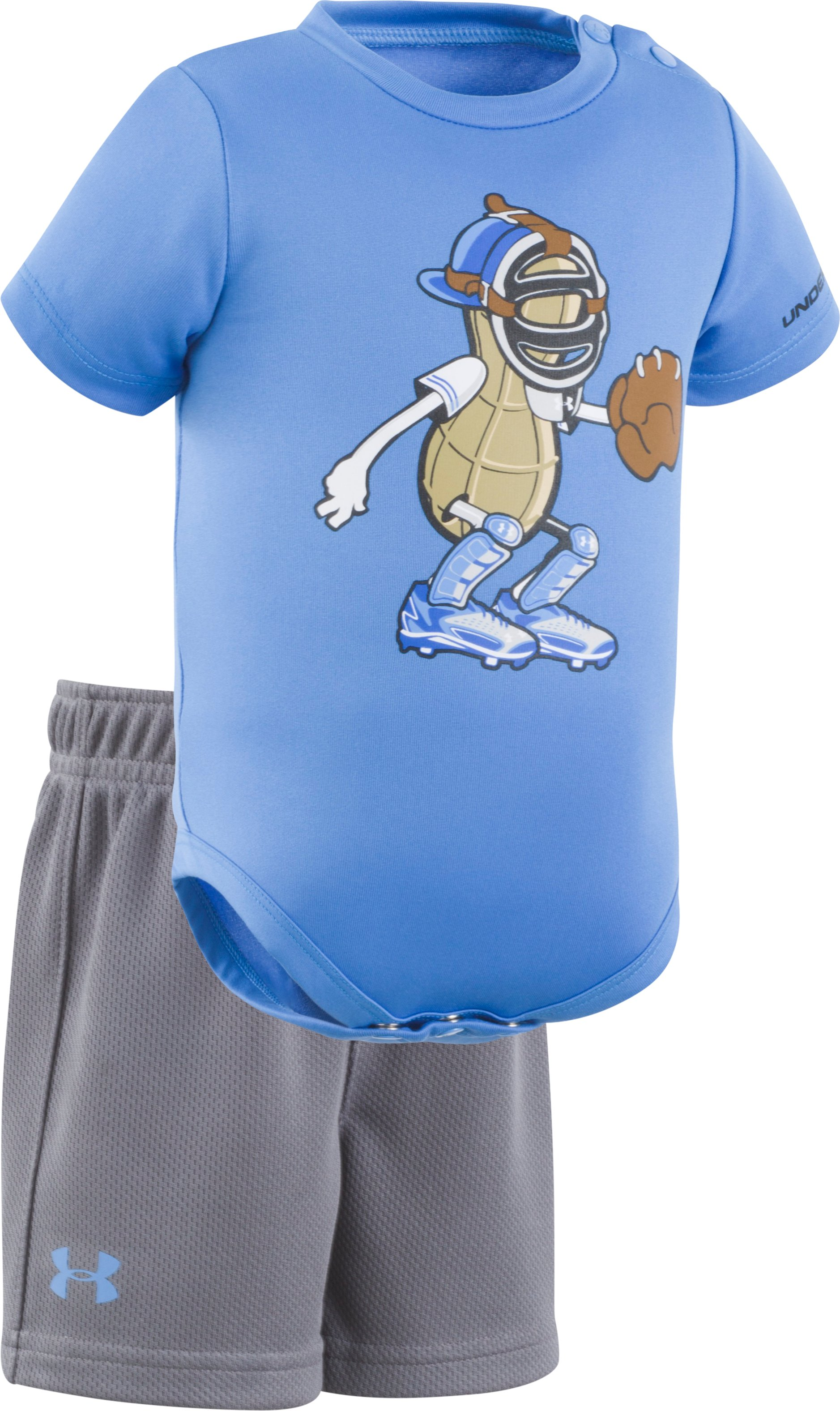 Boys' Newborn UA Peanut Catcher Set, Water, Laydown