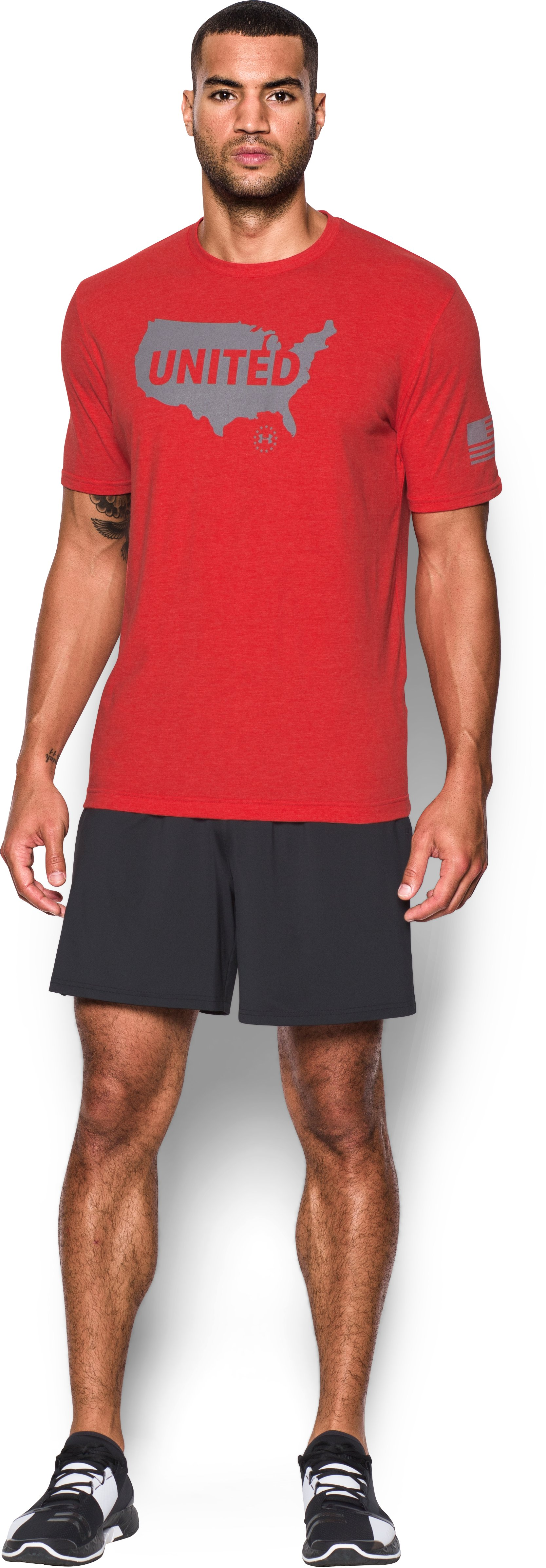Men's UA Freedom Americana United T-Shirt, Red, Front