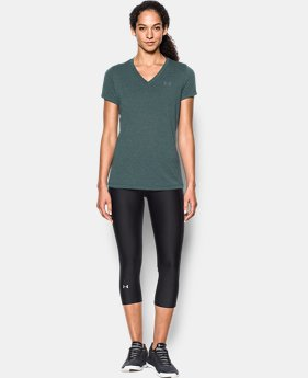 New to Outlet Women's UA Threadborne™ Heathered Short Sleeve  1 Color $22.49