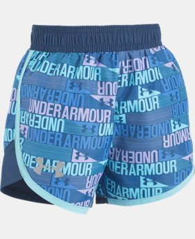 Girls' Pre-School UA Wordmark Fast Lane Shorts  1 Color $16.99