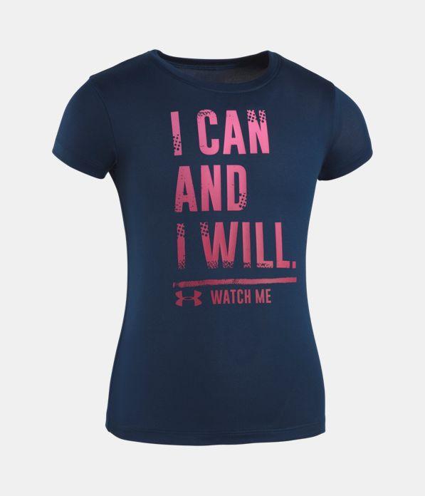aa16bca3a65f Girls  Toddler UA I Can And I Will T-Shirt