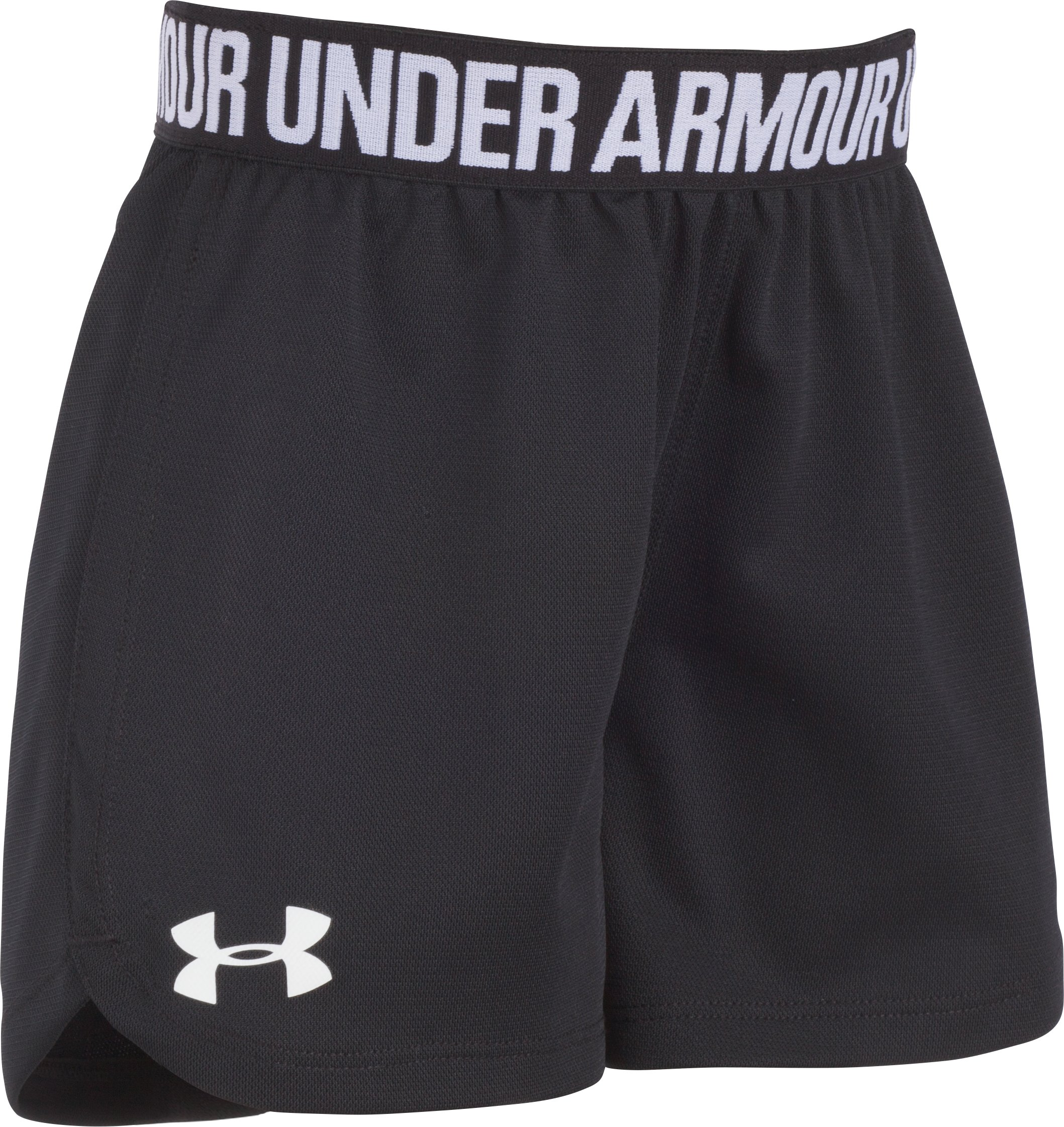 Girls' Pre-School UA Play Up Shorts, Black , Laydown