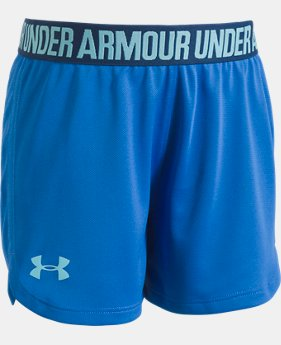 Girls' Pre-School UA Play Up Shorts  5 Colors $17.99