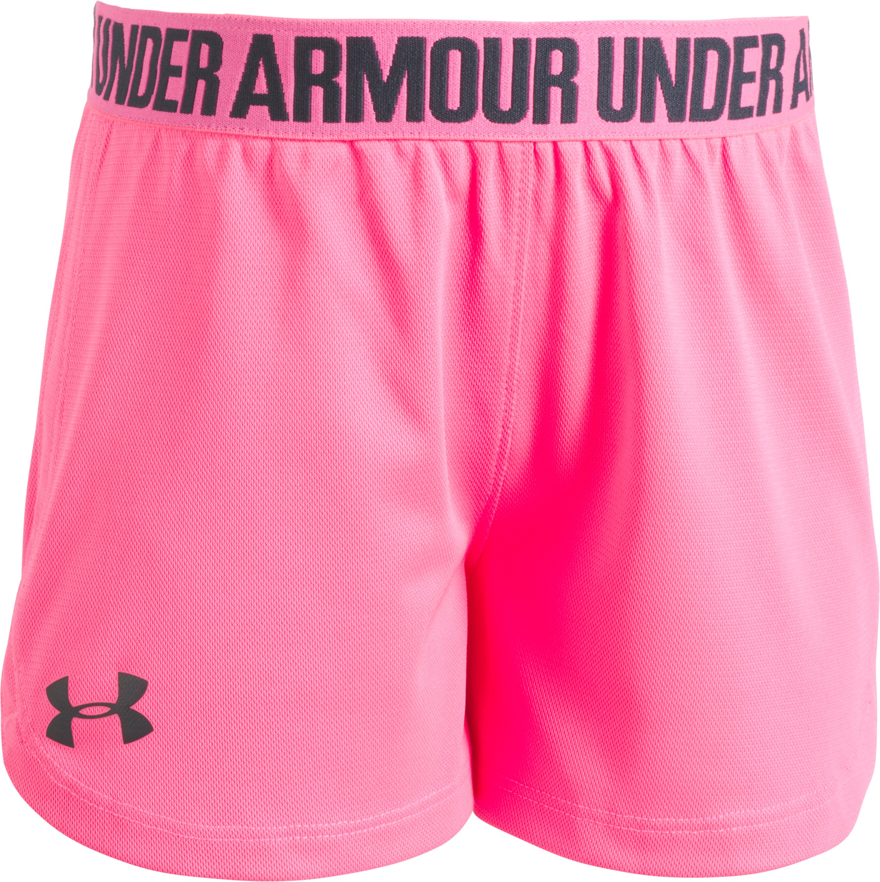 Girls' Pre-School UA Play Up Shorts, PINK PUNK, Laydown