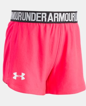 Girls' Pre-School UA Play Up Shorts LIMITED TIME: FREE U.S. SHIPPING 3  Colors Available $17.99