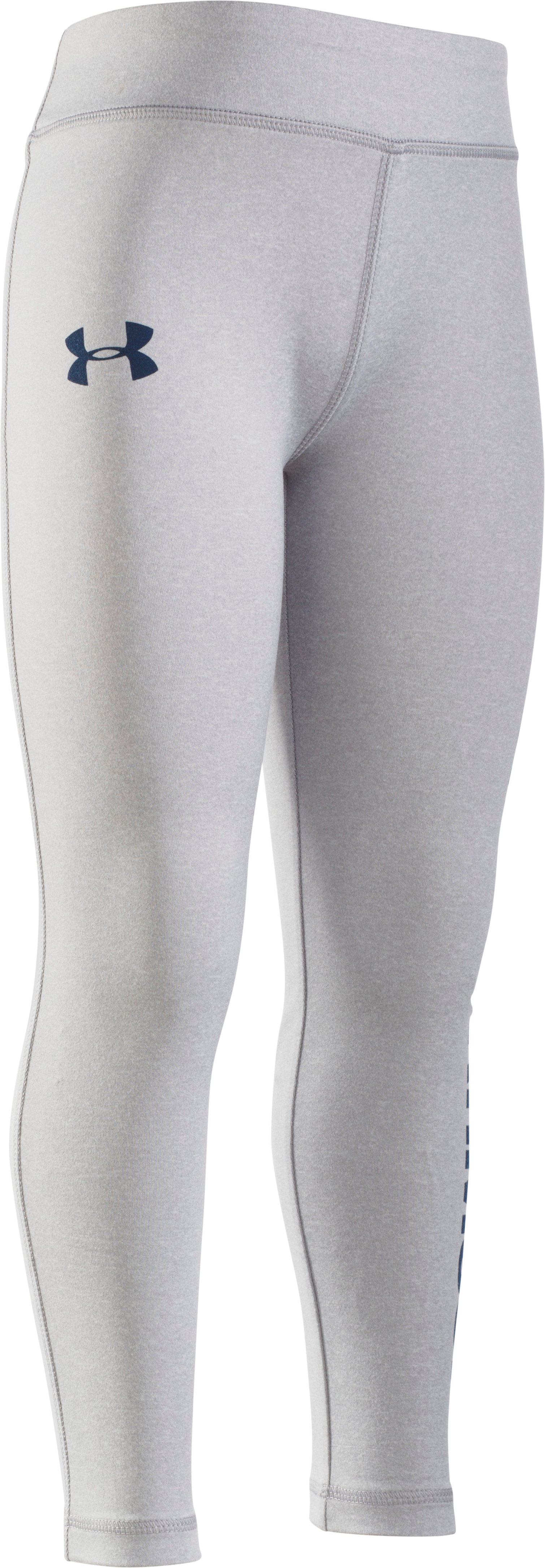 Girls' Pre-School UA Favorite Graphic Leggings, AIR FORCE GRAY HEATHER, Laydown