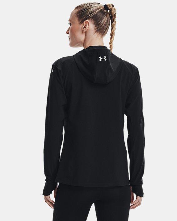 Women's UA Outrun The Storm Jacket, Black, pdpMainDesktop image number 2