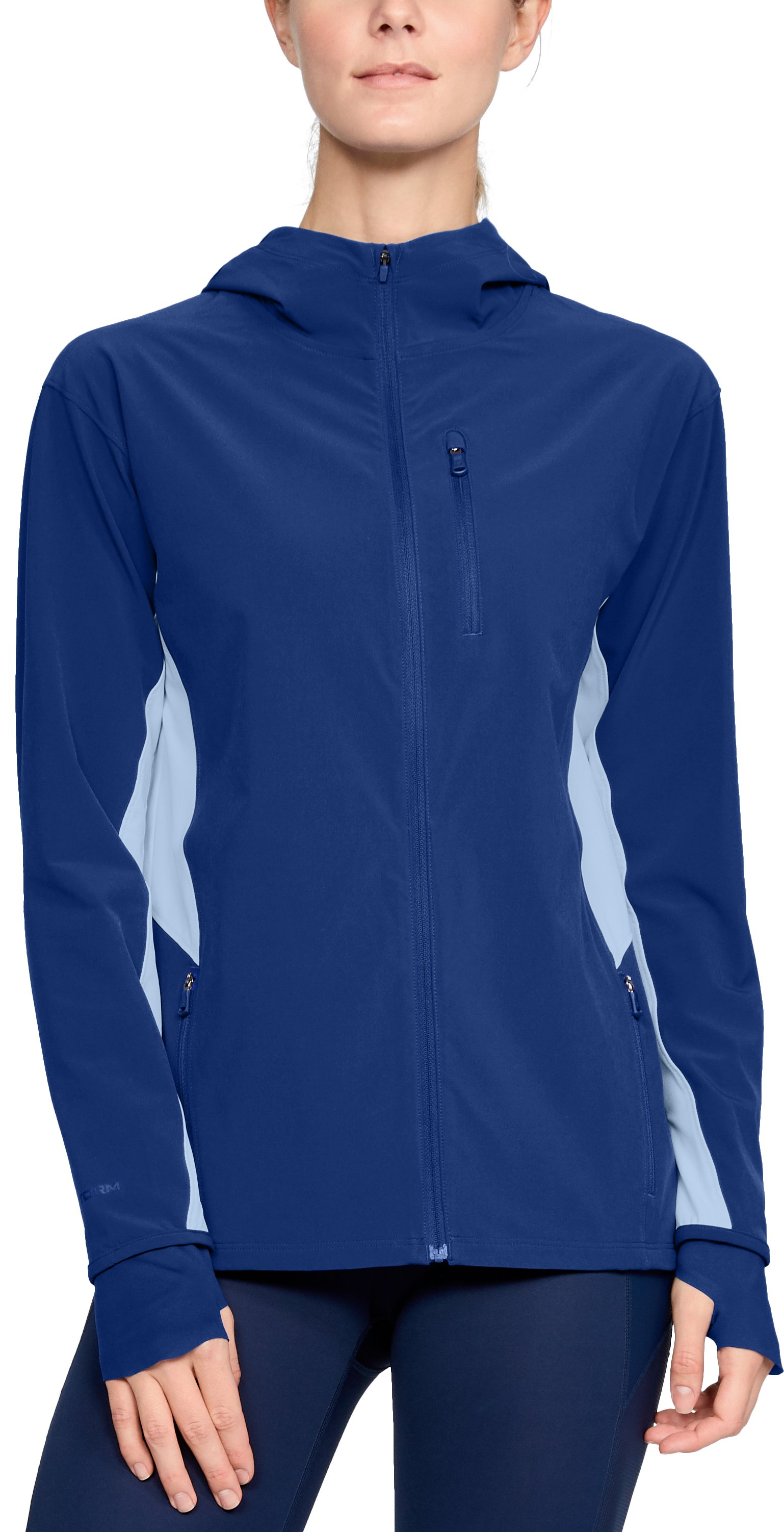 Women's UA Outrun The Storm Jacket, FORMATION BLUE