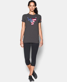 Women's Freedom Rock The Troops Bull T-Shirt  1 Color $17.24