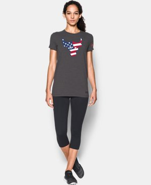 Women's Freedom Rock The Troops Bull T-Shirt   $29.99