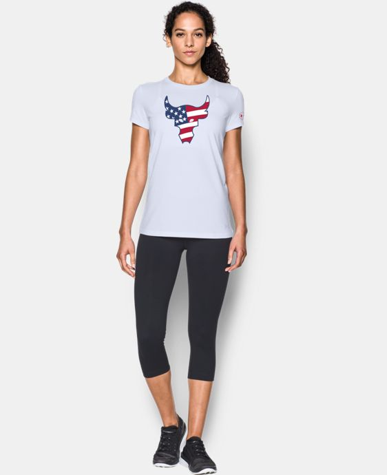 New Arrival Women's Freedom Rock The Troops Bull T-Shirt  1 Color $29.99