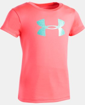 Girls' Infant UA Glitter Big Logo T-Shirt FREE U.S. SHIPPING 2  Colors Available $15.99 to $16