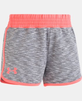 Girls' Pre-School UA Record Breaker Shorts FREE U.S. SHIPPING 2  Colors Available $21.99