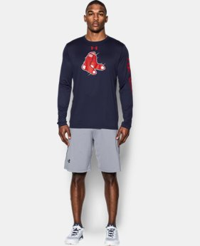New Arrival  Men's Boston Red Sox UA Tech™ Long Sleeve T-Shirt   $44.99
