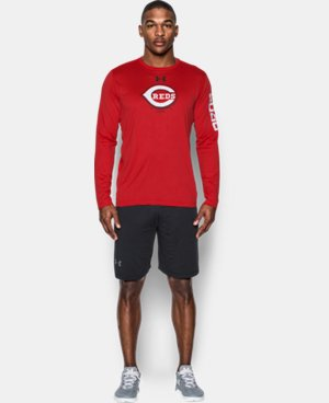 New Arrival  Men's Cincinnati Reds UA Tech™ Long Sleeve T-Shirt LIMITED TIME: FREE SHIPPING 1 Color $44.99