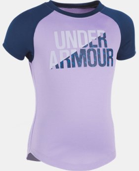 Girls' Pre-School UA Wordmark Raglan T-Shirt  1 Color $14.99