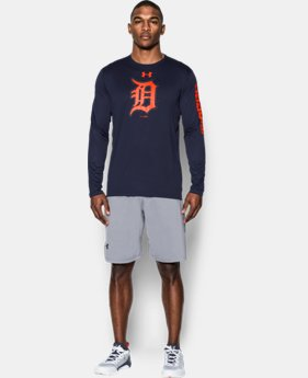 New Arrival  Men's Detroit Tigers UA Tech™ Long Sleeve T-Shirt   $44.99