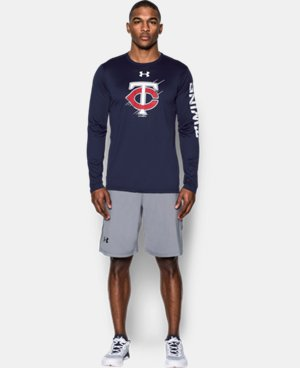 New Arrival  Men's Minnesota Twins UA Tech™ Long Sleeve T-Shirt LIMITED TIME: FREE SHIPPING 1 Color $44.99