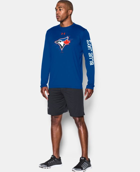 New Arrival  Men's Toronto Blue Jays UA Tech™ Long Sleeve T-Shirt  1 Color $44.99