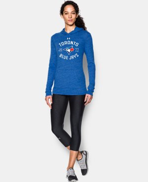 New Arrival  Women's Toronto Blue Jays UA Charged Cotton® Tri-Blend Hoodie  1 Color $49.99