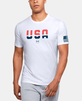 New Arrival Men's UA Freedom USA T-Shirt  1 Color $25